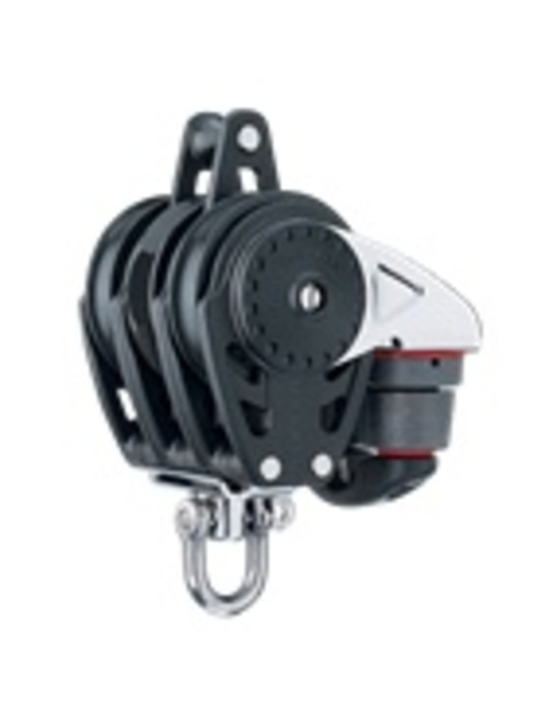 Harken 75mm Triple Carbo Ratchamatic Block w/Cam & Becket