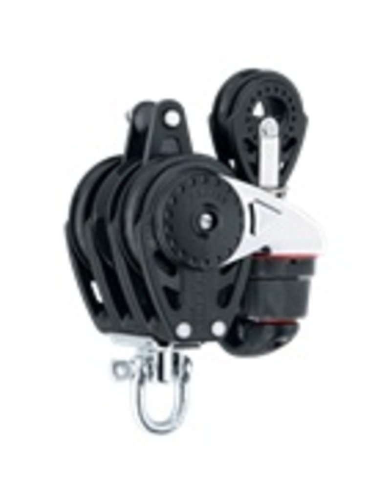 Harken 57mm Triple Carbo Ratchamatic w/Cam, Bkt & 40mm Block