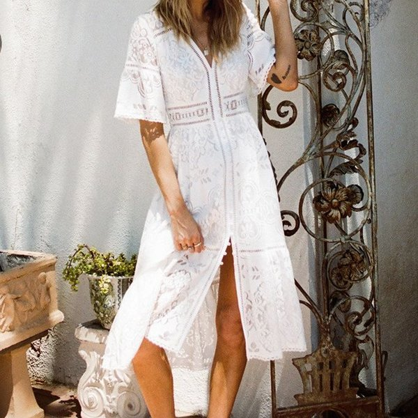 Spell Designs Spell Clover Lace Gown - I Heart Hanalei Beach Boutique