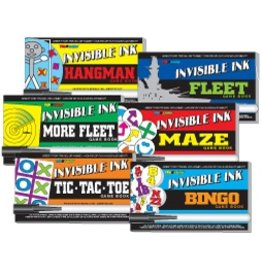 Yes & Know Invisable Ink Sports Mini Games