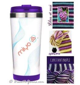 Biscotte Yarns Biscotte Yarns Travel Mug - Knit Your Own - Purple Mug - My Lilac Yarn