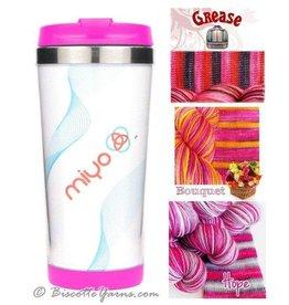 Biscotte Yarns Biscotte Yarns Travel Mug - Knit Your Own - Pink Mug - Hope Yarn