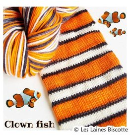 Biscotte Yarns Biscotte Yarns SELF-STRIPING yarn - Bis-Sock Clownfish