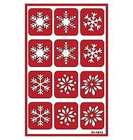 Over & Over Over & Over Stencil -Snowflakes