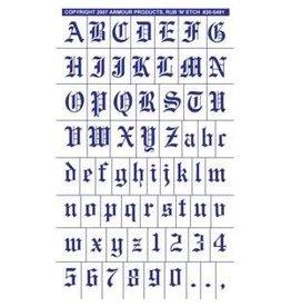 Rub N Etch Rub N Etch Stencils - Old English Full Alphabet with numbers