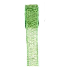Darice Burlap Ribbon - Lime - Sewn Edge - 2.5 inches x 10 yards