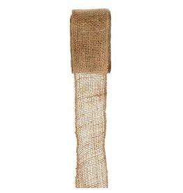 Darice Burlap Ribbon - Natural - Sewn Edge - 2.5 inches x 10 yards