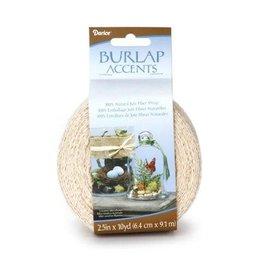 Darice NaturalBurlap Ribbon - Ivory - 2.5 inches x 10 yards