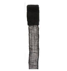 Darice Burlap Ribbon - Black - Sewn Edge - 2.5 inches x 10 yards