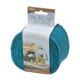 Darice ColoredBurlap Ribbon - Turquoise Blue - 2.5 inches x 10 yards