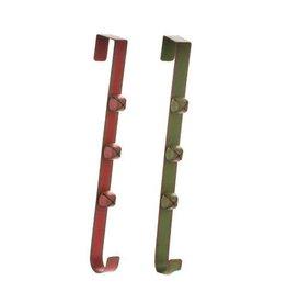Darice Christmas Wreath Door Hanger with Bell: Iron - 3.75 x 15 x 1in