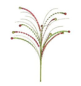 Darice Zigzag Christmas Pick: Red/Green, 12 inches