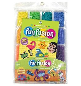 Darice Perler Beads FunFusion Bead Tray and Idea Book - 16 Colors