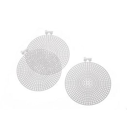 Darice PlasticCanvas Shape - Round - 4.5 inches - 10 pieces
