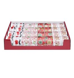 Darice Patterned Christmas Ribbon: 2.5in x 25 feet