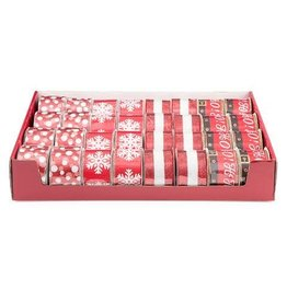 Darice Snowflake Assorted Christmas Ribbon: 2.5in x 25 feet