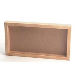 Darice Pine Wood CollectionShadow Box with Clear Front - 8.5 x 16 inches