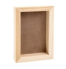 """Darice Pine Wood CollectionShadow Box with Clear Acrylic Front 9"""" x 6"""""""