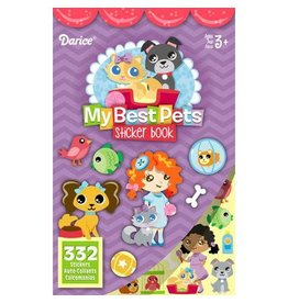 Darice Sticker Book for Kids - Best Pets - 332Stickers