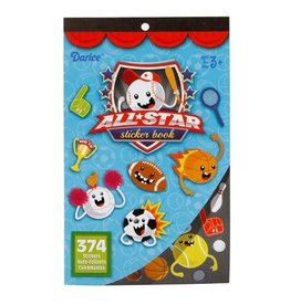 Darice Sticker Book for Kids - All Star Sports - 374Stickers