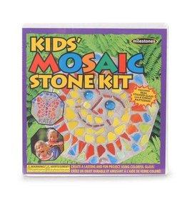 Darice Milestones Kids Mosaic Stone Kit - 4 Patterns Per Kit
