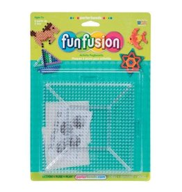 Darice Perler Beads FunFusion Pegboard - Square - Clear - Large - 2 pieces