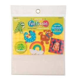 Darice Perler Beads FunFusion Ironing Paper - White - 6.5 x 8 inches - 6 pieces