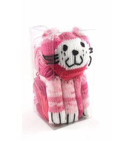 Katia Cat Scarf Kit Color 61 Pink