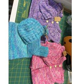 Kim Lantz Kim Newborn Sweater Hat set Little Tots
