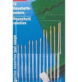 Njefferson Household hand needles, assorted, 12 pieces