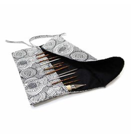 "Vivance VIVACE Knitting Needle Sleeve - 43 x 27cm (17"" x 11"") - White & Black"