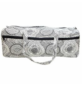"Vivance VIVACE Knitting Bag - 43 x 15 x 15cm (17"" x 6"" x 6"") - White & Black"