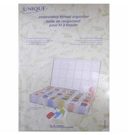 UNIQUE CREATIV UNIQUE Large Floss Box with 100 Card Bobbins
