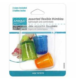 Hakidd Flexible Thimble - Sizes 14-16 - 3pcs