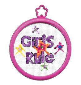 Bucilla Bucilla  My 1st Stitchâ - Counted Cross Stitch Kits - Mini - Girls Rule