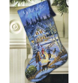 Dimensions Gold Collection - Christmas Eve Fun Stocking