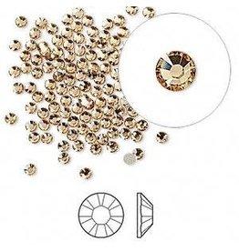Firemountain Beads Flat back, Swarovski® crystal rhinestone, Crystal Passions®, light Colorado topaz, foil back, 2.1-2.3mm Xilion rose (2058), SS7. Sold per pkg of 144 (1 gross).