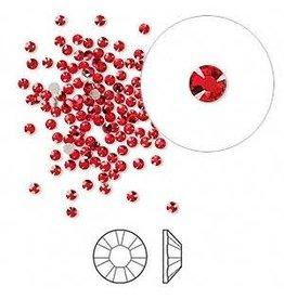 Firemountain Beads Flat back, Swarovski® crystal rhinestone, Crystal Passions®, light Siam, foil back, 1.7-1.9mm Xilion rose (2058), SS5. Sold per pkg of 144 (1 gross).