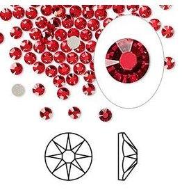 Firemountain Beads Flat back, Swarovski® crystal rhinestone, Crystal Passions®, light Siam, foil back, 3-3.2mm Xirius rose (2088), SS12. Sold per pkg of 144 (1 gross).