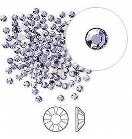 Firemountain Beads Flat back, Swarovski® crystal rhinestone, Crystal Passions®, tanzanite, foil back, 2.1-2.3mm Xilion rose (2058), SS7. Sold per pkg of 144 (1 gross).