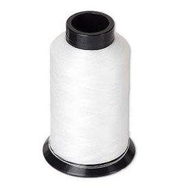 Firemountain Beads Thread, Nymo®, nylon, white, size D. Sold per 3-ounce spool.