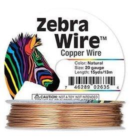 "Firemountain Beads Wire, Zebra Wireâ""¢, natural copper, round, 20 gauge. Sold per 15-yard spool."