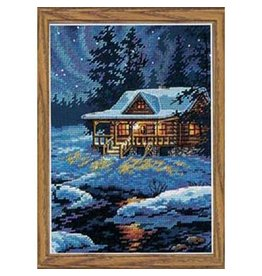 """Dimensions Dimensions Gold Collection Petites """"Moonlit Cabin"""""""