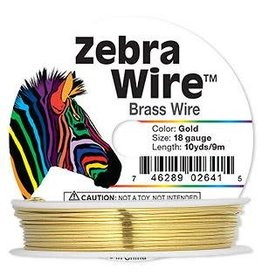 """Firemountain Beads Wire, Zebra Wireâ""""¢,  ass, gold color, round, 18 gauge. Sold per 10-yard spool."""