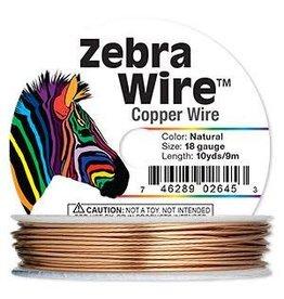 "Firemountain Beads Wire, Zebra Wireâ""¢, natural copper, round, 18 gauge. Sold per 10-yard spool."