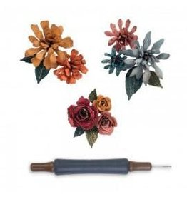 Tim Holtz Thinlits Die Set, Tiny Tattered Florals O 15pk
