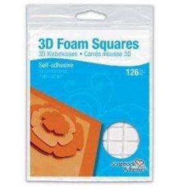 Ranger 3D Foam Squares, White 3D Permanent 1/2 x 1/2 x 1/8 inch. 126 pc.