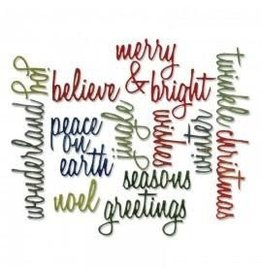 Tim Holtz Thinlits Die, Xmas Words Script