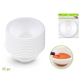 MultiCraft Krafty Kids: Less-Of-A-Mess Paint Bowls x12 Mixing/Rinsing