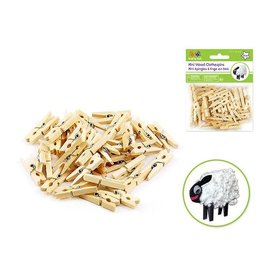 "MultiCraft 1 3/16"" Mini Clothespins Natural 40/pk"